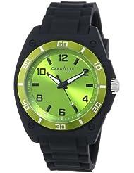 Caravelle New York Mens 45A113 Analog Display Japanese Quartz Black Watch