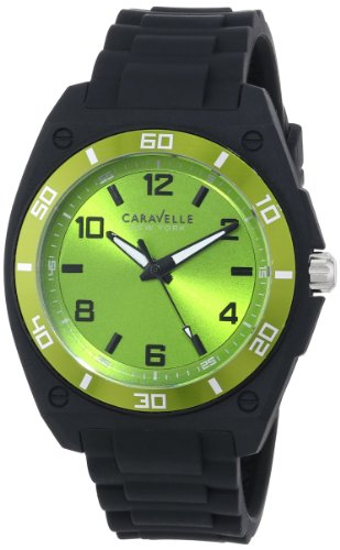 Caravelle Black Dial - Caravelle New York Men's 45A113 Analog Display Japanese Quartz Black Watch