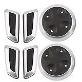 Seat Adjustable Switch Knob 6pcs Black Matt Chrome for Audi Cars Exquisitely Designed Durable Gorgeous