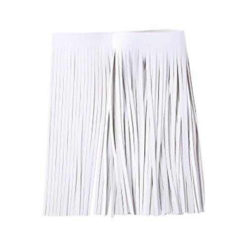 (Faux Suede Garment Tassel Fringing Fringe Trim DIY Skirt Dress Hem Sewing Repair Bag Pouch Charm,15cm (White) )