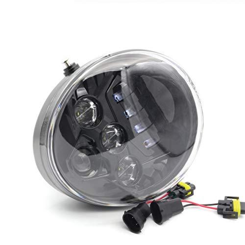 (Black LED Protector Headlight Fit for Harley Davidson VRod V-Rod VRSCA VRSCF)