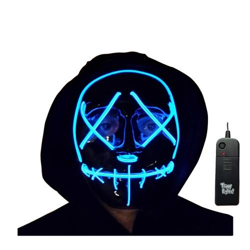 Trippy Lights The Original LED Light Up Election Year First Purge Halloween Movie Mask]()