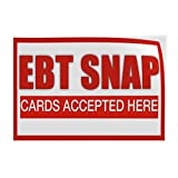 Debt Snap Cards Accepted Here #1 Indoor Store Sign Vinyl Decal Sticker - 9.25inx24in,