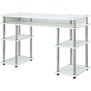 Amazon Com Ameriwood Home 9318596com Parsons Deluxe Desk White