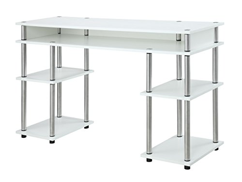 Convenience Concepts Modern No Tools Student Desk, White ()