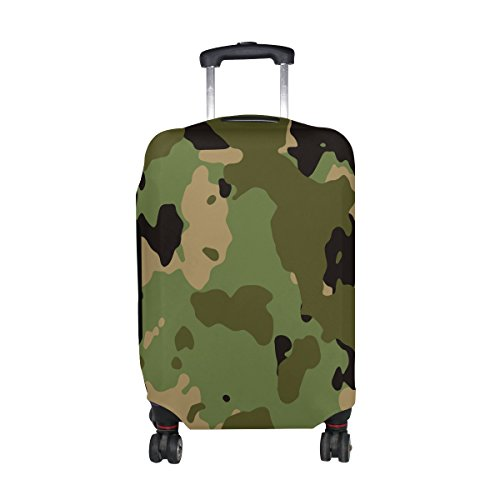 Military Camo Camouflage Pattern Print Travel Luggage Protector Baggage Suitcase Cover Fits 22-24 Inch Luggage by super3Dprinted