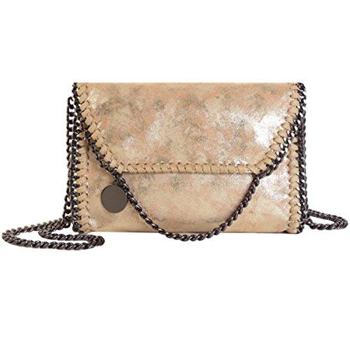 Women's PU Leather Chain Bag Cross Body Bag Handbag Clutch Shoulder Bag ()