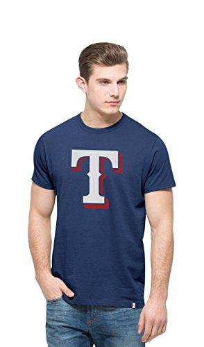 MLB Texas Rangers Men's All Pro Flanker Tee, Bleacher Blue, X-Large