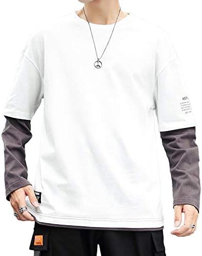 【在庫処分】 Tシャツ メンズ 長袖 秋服 丸首 無地 ロングtシャツ 大きいサイズ ゆったり カットソー おしゃれ カジュアル トップス 春 夏 秋 冬