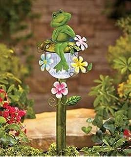 Amazoncom Solar Powered Ladybug Stake Whimsical Garden Yard Lawn