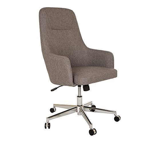 Glitzhome Home High-Back Office Chair Fabric Adjustable Desk Chair with Arms, (Not Upholstered Office Chairs)
