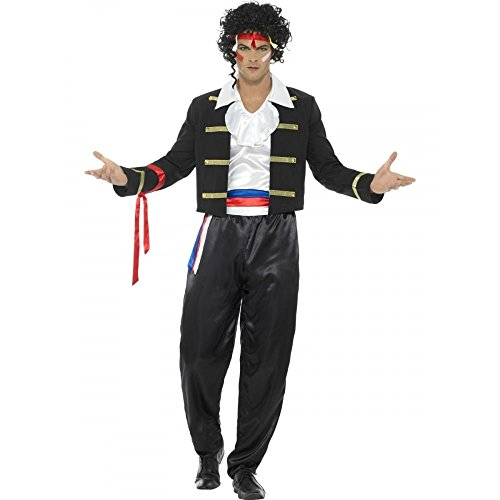 80s Male Icons Costume (Smiffy's Men's 80s New Romantic Costume, Black, Large)