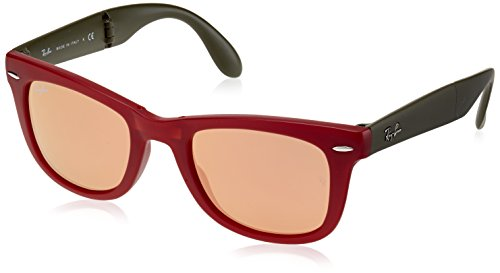 d9c40a35e73 Ray-Ban RB4105 Wayfarer Sunglass-6050Z2 Red Green (Copper Flash Lens)-50mm  - Buy Online in Oman.