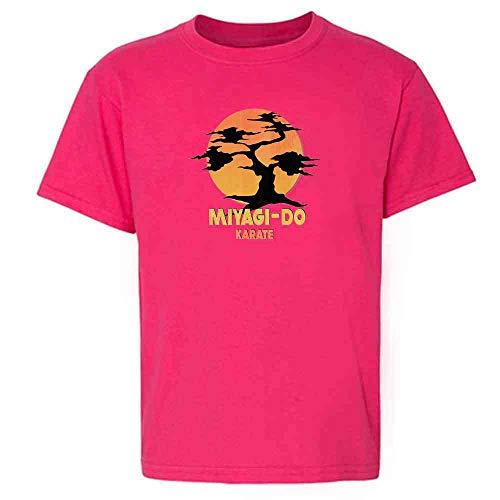 Karate Kid Miyagi-Do Dojo Bonsai Sunset Costume Pink 5 Toddler Kids T-Shirt ()