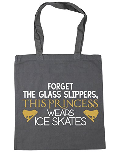litres 10 Forget wears princess the Beach HippoWarehouse Graphite ice 42cm Gym x38cm Bag Tote glass Grey skates Shopping slippers this CTdawF