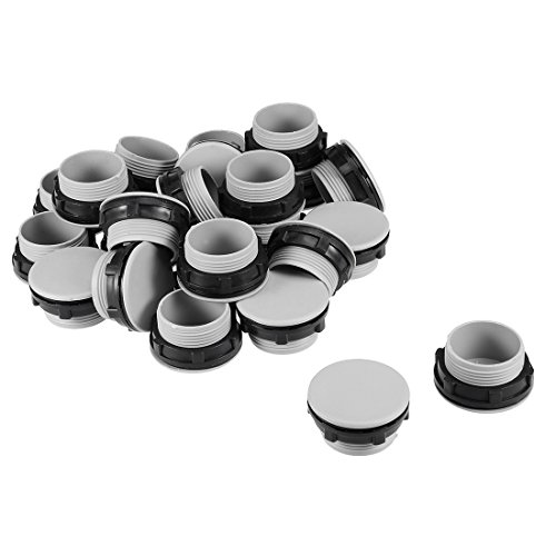 - uxcell 24 Pcs 30mm Black Gray Plastic Push Button Switch Hole Panel Plug