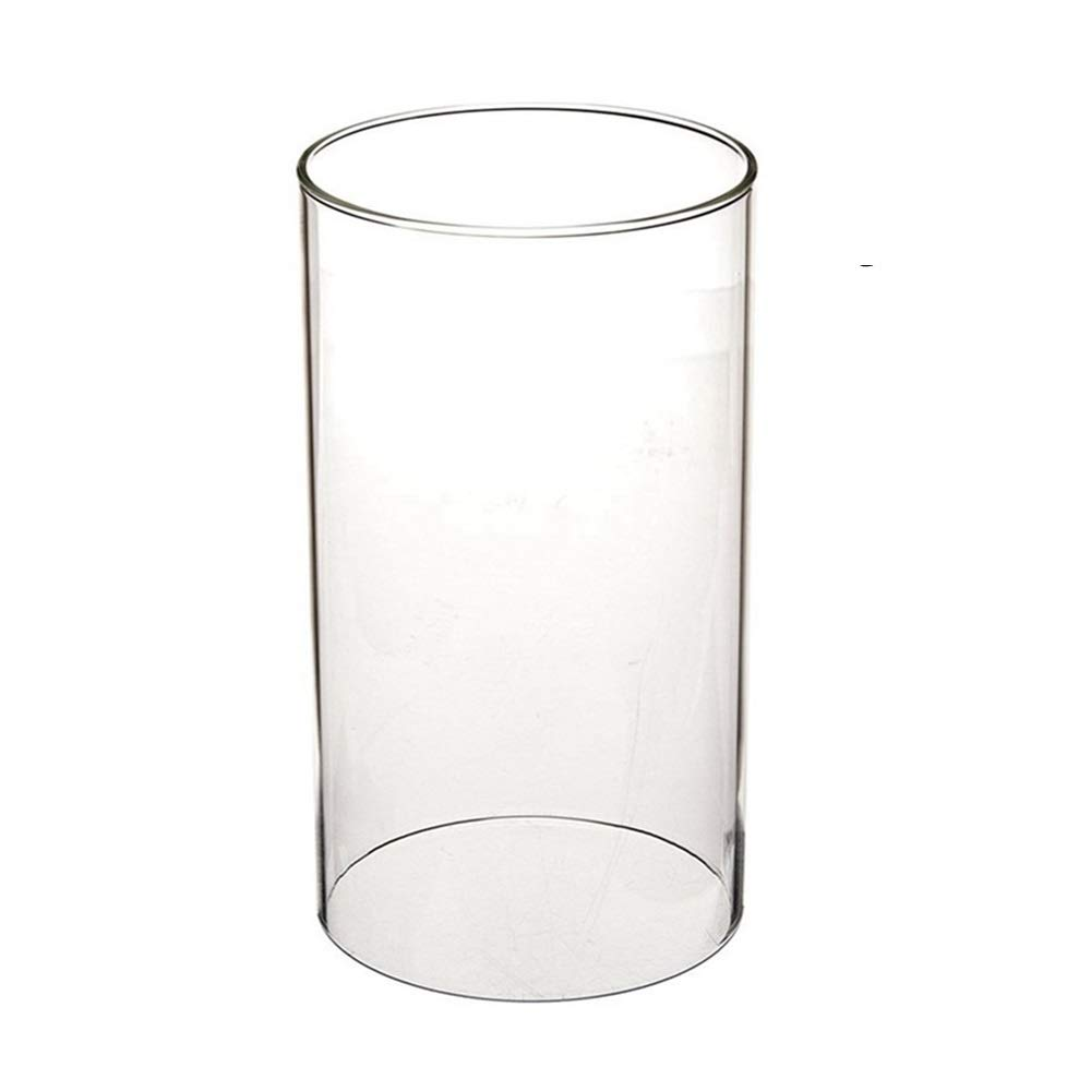 Clear Candle Holder Glass Chimney Candle Open Ended Clear Glass Lamp Shade Open 3.55 Height 6 (H6) SGLED