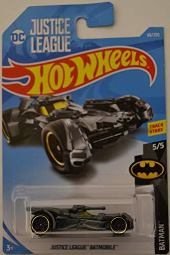 Hot Wheels 2019 Basic Vehicle Batman: DC Justice League Batmobile (Grey) - International Card