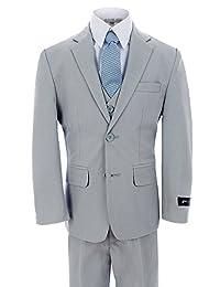 Johnnie Lene Dress Up Boys Designer 2 Button Suit Set