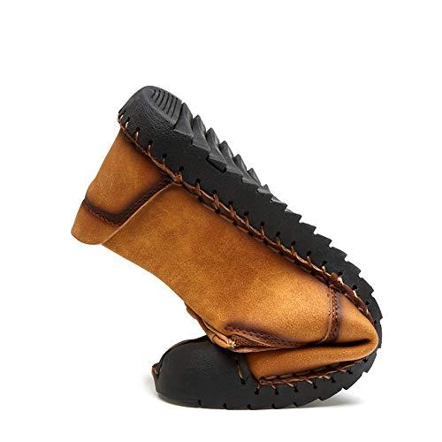 Sandalias Hombre Mocasines Negro1 Verano Cuero Zapatos Oxford Transpirable Senderismo Deporte Trekking SrSqdw5
