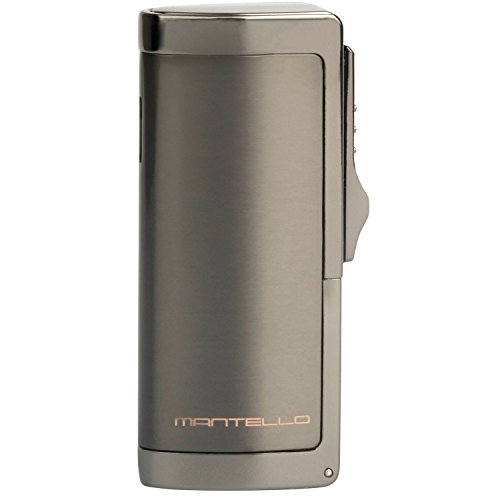 Mantello Boss Triple Jet Flame Butane Cigarette Torch Lighter with Cigar Punch Attachment