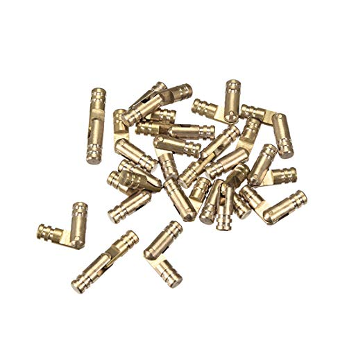 uxcell Folding Support Hidden Concealed Cylinder Hinge Brass Tone 4mm x 15mm 20pcs
