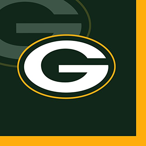 Creative Converting 16 Count Green Bay Packers Beverage Napkins - 659512 ()