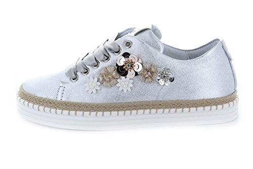 Dames Tennisschoen Toevallige Schoenen Met Juwelen Toepassing Alp Verwisselbare Voetbed Leer Plata