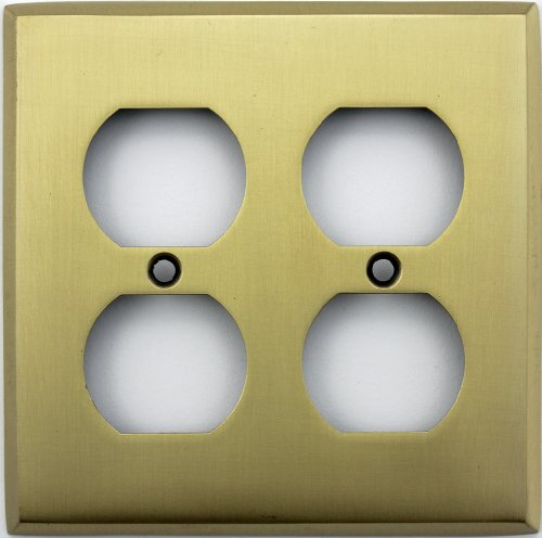 Classic Accents Antique Brass Two Gang Duplex Outlet Wall Plate Duplex Electrical Accent Wall Plate
