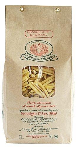 Rustichella D' Abruzzo Casareccia Durum Wheat in Brown Paper Bag, 1.1 Pound (Dried Pasta)