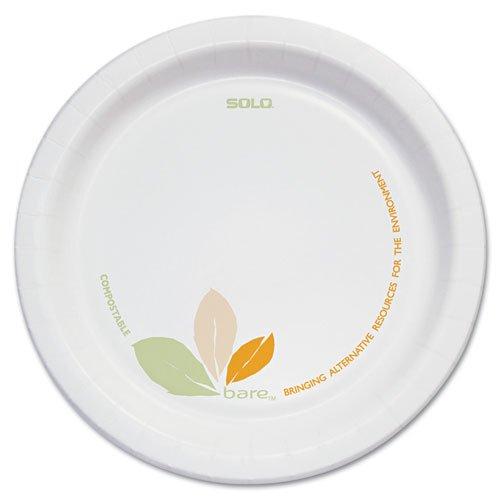 "SOLO Cup Company Bare Paper Dinnerware, 6"" Plate, Green/Tan - Includes 500 plates."