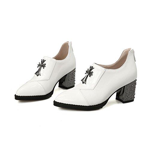 Adee pour femme Couleurs assorties givré Pompes Chaussures - Blanc - blanc, 43