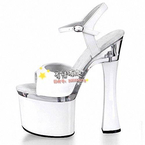 Mode - sandalen modell 18cm ultra high heels schuhe modell sandalen d72b08