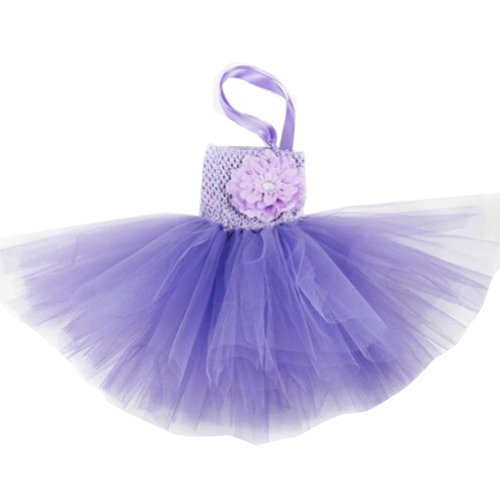 Buenos Ninos Baby Girls TUTU Crochet Tube Top Pettiskirt (Crochet Lavender)
