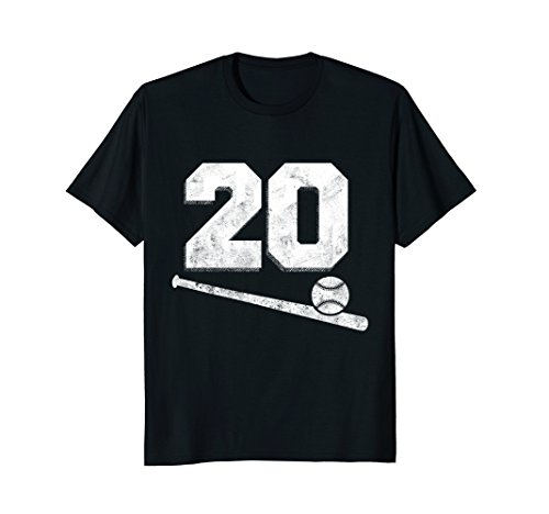 Vintage Baseball Jersey Number 20 T-Shirt Player (Vintage Baseball Jersey)