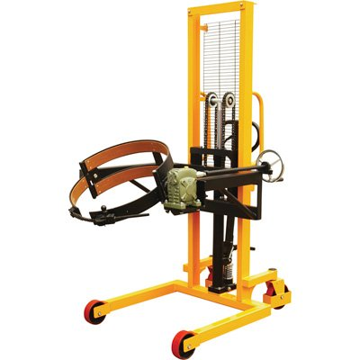 Vestil DRUM-LRT-EC Drum Lifter/Rotator/Transport with Strap, 53'' Length x 78'' Height x 33'' Width, 550 lb. Capacity, Yellow