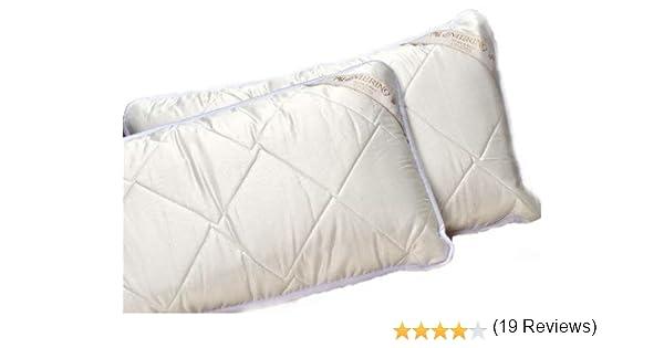 La Venta! Pack DE 2 Almohadas de Lana Merino + Funda de algodón ...