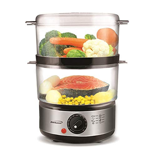 1 Professional 2 Tier Electric Food Steamer With Timer