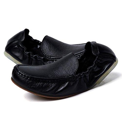 Minitoo LHEU-LH1182, Mocassins pour Homme Noir