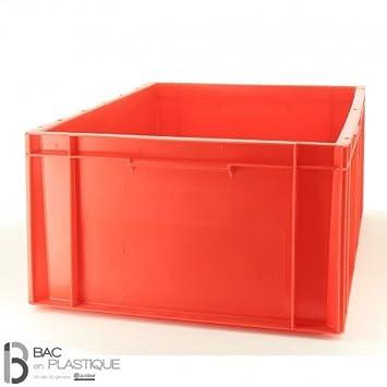 premier taux 1a62e 05cfa Bac plastique manutention et stockage - Couleur - Rouge ...