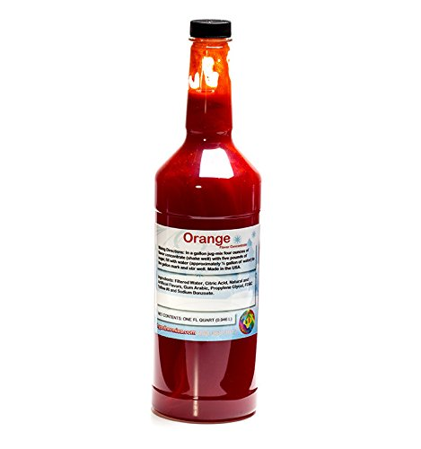 (Orange Shaved Ice and Snow Cone Flavor Concentrate Quart Size (32 Fl)