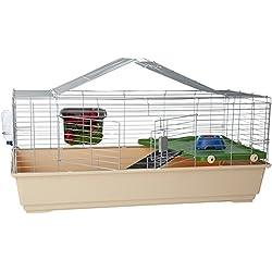 AmazonBasics Small Animal Cage Habitat With Accessories - 49 x 27 x 21 Inches, Jumbo