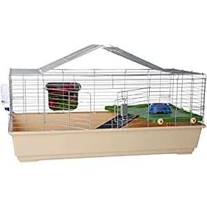 AmazonBasics Small Animal Cage Habitat With Accessories 22