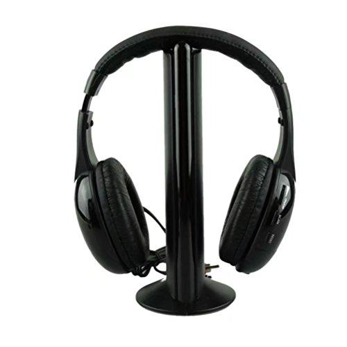Multimedia Stereo Headphones - Leoy88 Wireless Bluetooth Over Ear Headphones Foldable Hi-Fi Stereo Deep Bass Headphone,Comfortable Protein Earpads for TV set, audio device, DVD/VCD player, multimedia PC (Black)