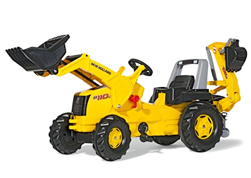 Rolly Toys New Holland Tractor with Front Loader and Backhoe Digger