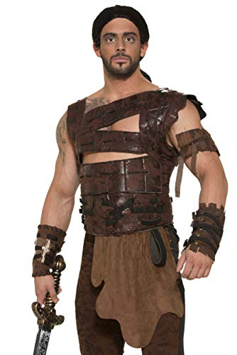 Forum Novelties Faux Leather Armor and Belt Costume Accessory - Standard - Chest Size up to 42