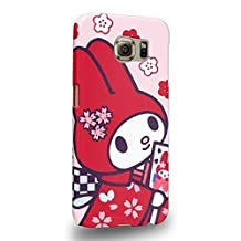 Case88 Premium Designs My Melody & Kuromi Collection 0652 Protective Snap-on Hard Back Case Cover for Samsung Galaxy S6