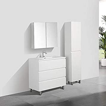 Stano Meuble Salle De Bain Design Simple Vasque Verona Largeur 90