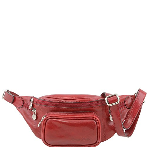 Tuscany Leather - Leather Fanny Pack Red - TL141305/4 by Tuscany Leather