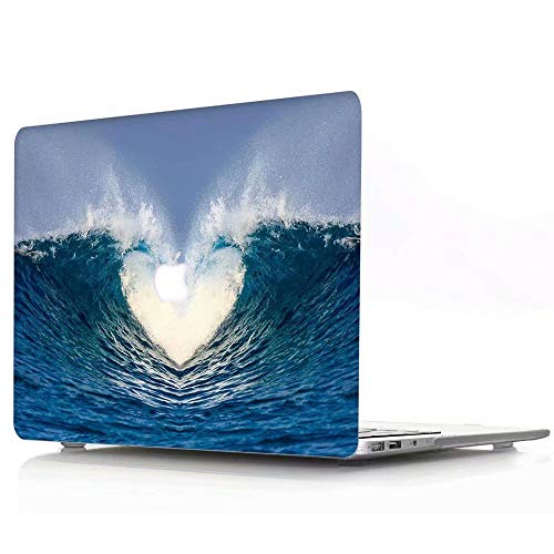 MacBook Air 13 Inch Case 2018 Release A1932 - AQYLQ Plastic Hard Case Rubber Coated Protective Cover for MacBook Air 13 Inch with Retina Display fits Touch ID - Love Ocean